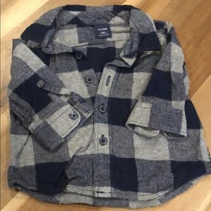 Baby gap flannel button down shirt